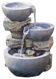 jeco inc patio decorative rock and pot water ornamental