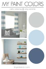 my paint colors greige with shades of blue