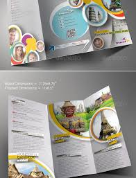 travel agency trifold brochure template graphic design