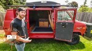 amazing simplistic van build for 1 500 van life on a budget