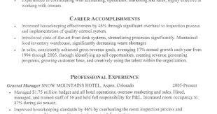 Hospitality Resume Sample Resume For Hospitality Sample Hospitality Resume Sales