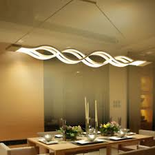 led dining room lighting modern wave led dining room home pendant chandelier suspended