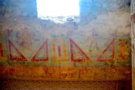 chambre erotique file villa romana casale cubilum chambre érotique fresque jpg