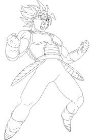 dragon ball z bardock ssj coloring pages sketch coloring page
