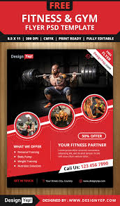 free fitness u0026 gym flyer psd template free flyers pinterest