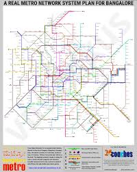 Metro Map Silver Line by Namma Metro A Conceptual Dream For A Real Bangalore Metro Network