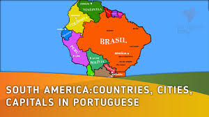 Central America Map And Capitals by South America Countries Cities Capitals In Portuguese Lesson