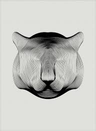 pattern drawing illustrator animals drawn with moiré patterns colossal