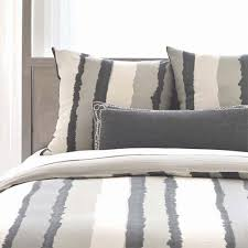 striped linen duvet cover in gray and ivory and nursery kid