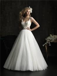 Wedding Dresses With Straps Ball Gown V Neck Tulle Lace Wedding Dress With Straps Belt