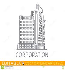 corporation building of big company commerce architecture