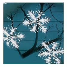 buy set of 10 clear lighted twinkling snowflake icicle christmas