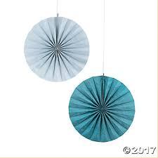 hanging paper fans silver glitter hanging paper fans