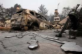 Wildfire Areas by Powerful Photos Deadly Fires Burn In Napa Calistoga Areas Abc7 Com