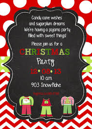 christmas pajama party invitation digital printable pj party by