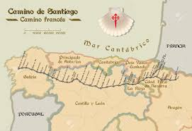 Pais Vasco Map Map Of Saint James Way With All The Stages Of French Way Mapa Del