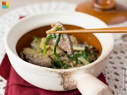 asian dish ring holder images Claypot liver with ginger spring onions jpg
