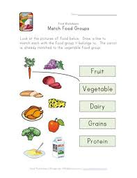 match food groups worksheet science activities for the classroom