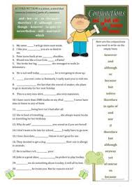 88 free esl conjunctions worksheets
