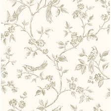 Home Decor Used by Elegant Home Decor Wallpaper Bird Motifs That Used Cream As The