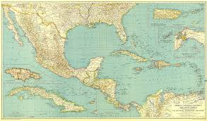 mexico america map mexico central america and the west indies map