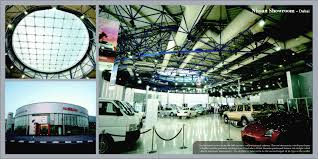 nissan showroom qatar prisma ae fixed metal space frames and bolted glazing system in