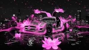 pink mercedes amg mercedes sls amg fantasy flowers city car 2014 el tony