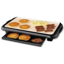 Oster Buffet Warmer by Oster Ckstgrfm18w Eco Black Duraceramic Griddle With Warming Tray