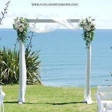 wedding arches to hire vintage whitewash wooden arch wedding and event hire auckland