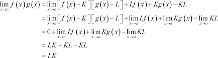 calculus i proof of various limit properties