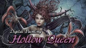 digital painting hollow queen halloween 2015 photoshop