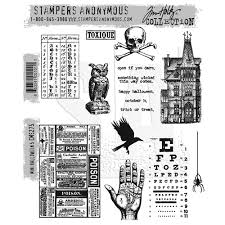 sters anonymous tim holtz rubber sts mini 5 cms275