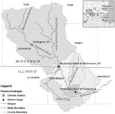 Chicago Wisconsin Map by Episodic Change Analysis Of The Annual Flood Peak Time Series For