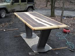 Slab Wood Table by Slab Wood Tree Top Wood Teddys Custom Art Wood Frenchtown Nj Bar