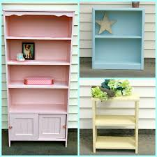 ice cream colored bookcase makeovers little vintage cottage