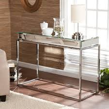 Overstock Sofa Table by Upton Home Adelie Mirrored Sofa Console Table Contemporary