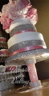 rhinestone cake stand decorate my wedding wedding buffet servers