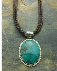 leather turquoise necklace images Genuine turquoise sterling silver leather necklace sjc jewelry jpg