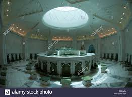 ablution area of sheikh zayed mosque abu dhabi stock photo