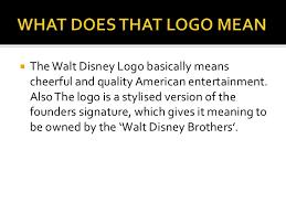what does the logo walt disney logo