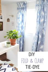 White Tie Curtains Diy Fold Cl Tie Dye Thewhitebuffalostylingco