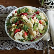 light thanksgiving sides cauliflower salad recipe myrecipes