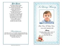 baby funeral program 26 images of obituary template for a bosnablog