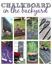 chalkboard ideas in the backyard this u0027s life blog crafty