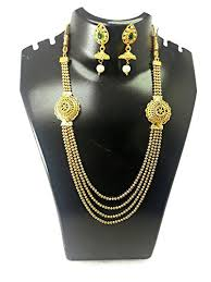 ladies necklace designs images Buy fashion factory latest new stylish fashionable 4 string gold jpg