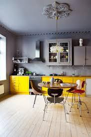 grey kitchen cabinets yellow walls kitchen decoration
