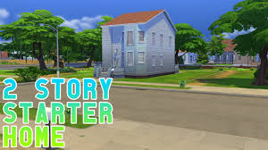 let u0027s play the sims 4 2 story starter home youtube