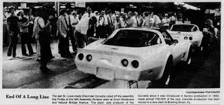 corvette manufacturer for 28 years the gm plant at bridge avenue and union