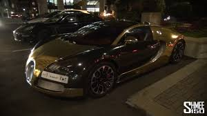 bugatti veyron gold gold chrome bugatti veyron grand sport in london for eid youtube