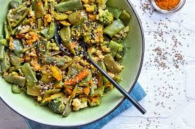 cuisiner haricots coco recette de wok végétarien de coco plat chou fleur chou romanesco